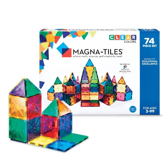 MAGNA-TILES Clear Colors 74pc Set image number null