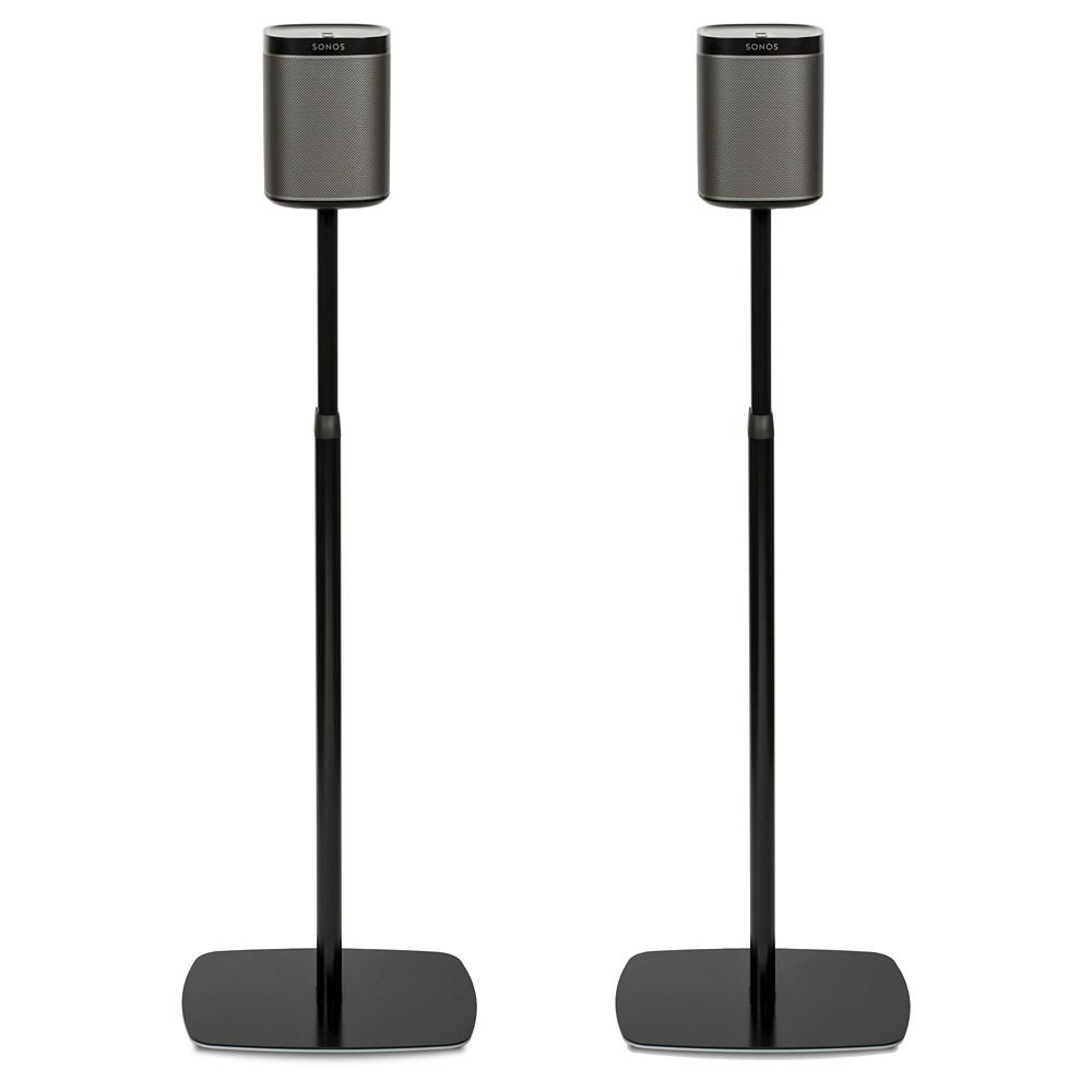 Flexson FLXP1AS2021 Adjustable Floorstand for Play:1 Sonos Speakers - Pair (Black)