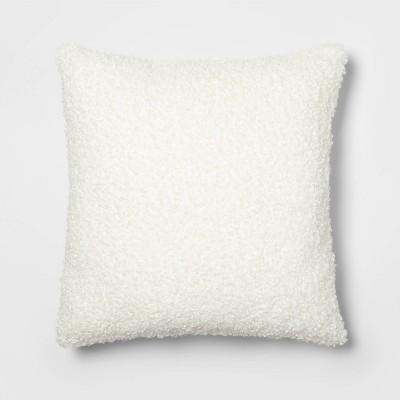 Euro Boucle Decorative Throw Pillow Cream - Threshold™