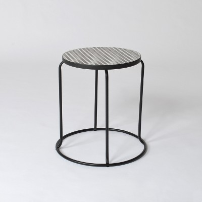 Mosaic Polka Dot Indoor/Outdoor Stack Accent Table Black/White - Project 62™