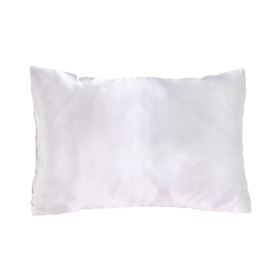 King 600 Thread Count 1pc Solid Satin Pillowcase Ivory - Morning Glamour