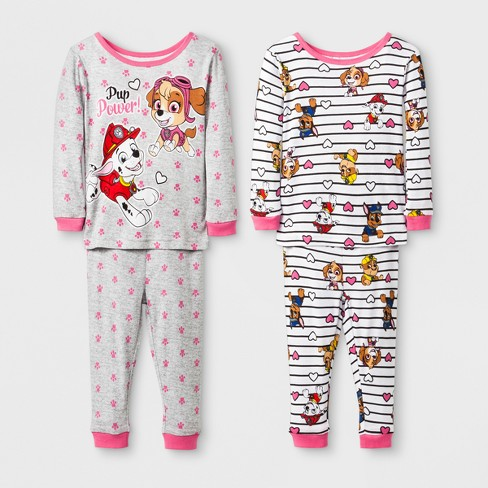 a9b93493f0eb Baby Girls  PAW Patrol 4pc Pajama Set - Grey   Target