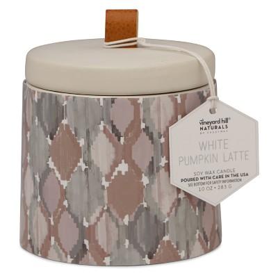 10oz Ikat Ceramic Jar Candle White Pumpkin Latte - Vineyard Hill Naturals By Paddywax