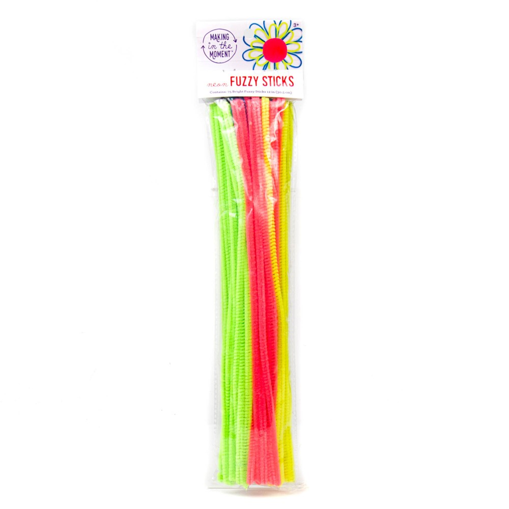 Craft Pipe Cleaners 75ct Neon - Making in the Moment
