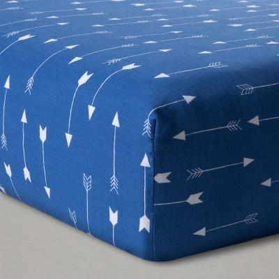 Fitted Crib Sheet Arrows - Cloud Island™ Blue