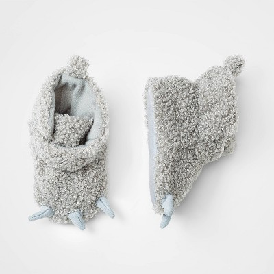 Baby Boys' Bear Booties - Cloud Island™ Gray 3-6M