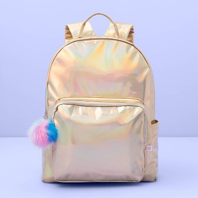 "Girls' Gold Iridescent Backpack   More Than Magic Gold 16"" by More Than Magic Gold 16"""