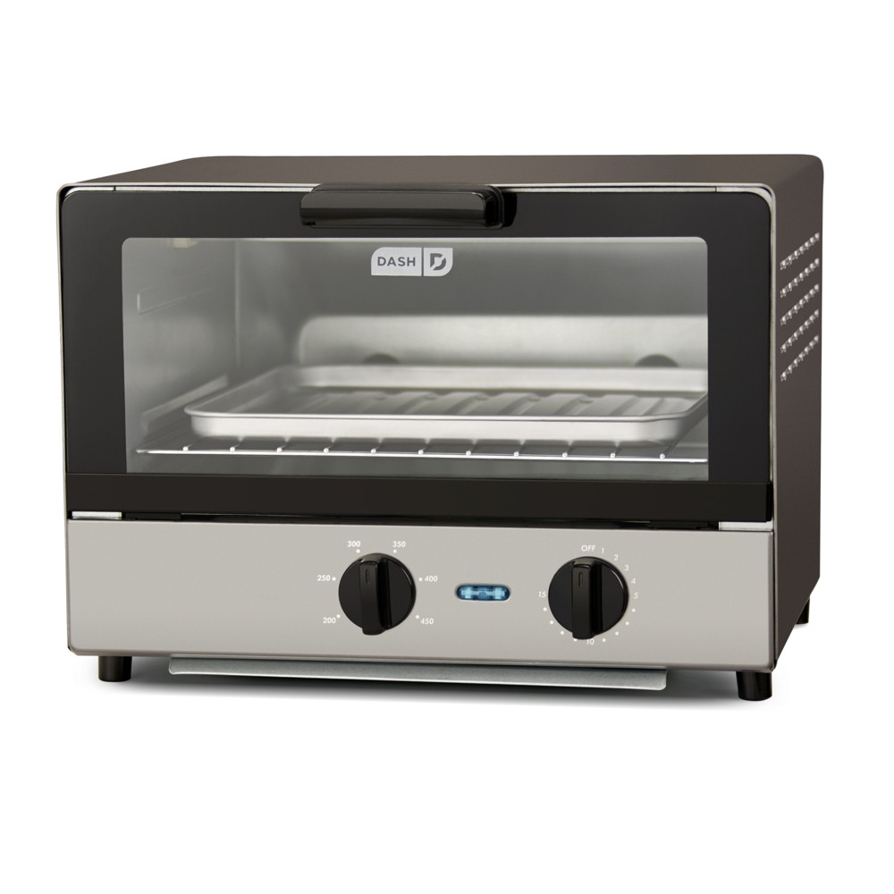Image of Dash Compact Toaster Oven - Graphite (Grey) DCTO100GBGT05