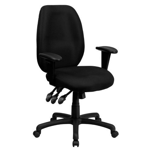Ergonomic Executive Swivel Office Chair Black - Flash Furniture - image 1 of 4