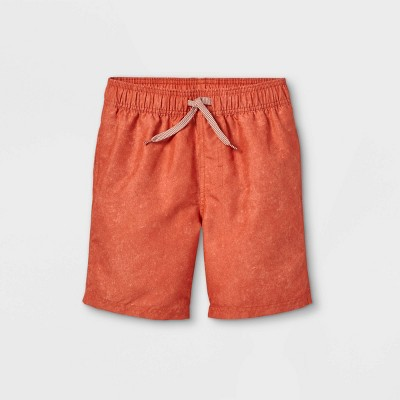 Boys' Solid Swim Shorts - Cat & Jack™ Rust