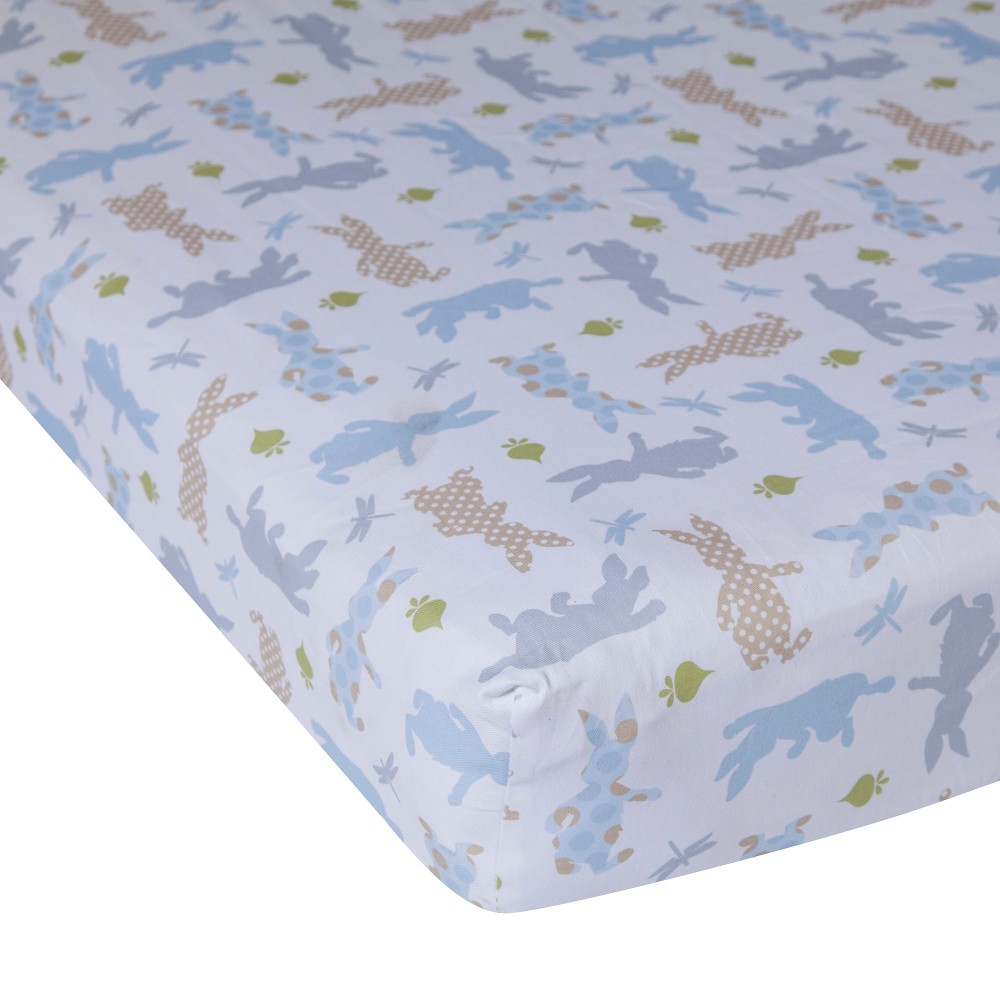 Lambs & Ivy Fitted Crib Sheet - Peter Rabbit