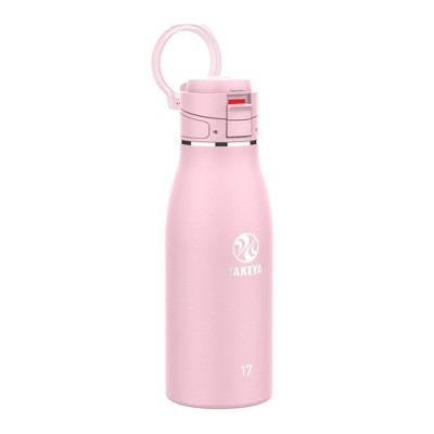 Takeya 17oz Insulated Stainless Steel Travel Mug with Flip-Lock Spout Lid- Blush