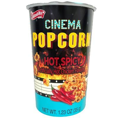 Shirakiku Cinema Hot Spicy Chicken Flavored Popcorn - 1.23oz