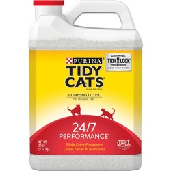 Purina Tidy Cats Clumping Cat Litter 24/7 Performance for Multiple Cats - 20lb Jug