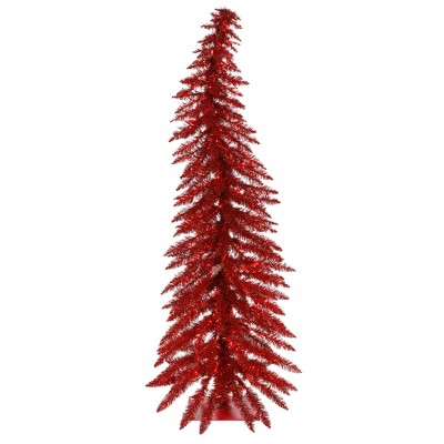 Vickerman Red Whimsical Artificial Christmas Tree