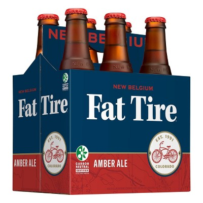 New Belgium Fat Tire Amber Ale Beer - 6pk/12 fl oz Bottles
