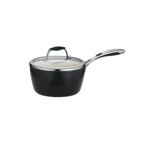 Tramontina Gourmet Ceramica Deluxe 3qt Sauce Pan with Lid Metallic Black - image 1 of 4