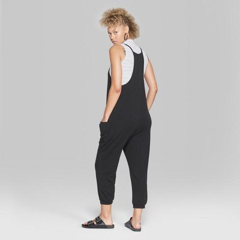 fd7c8423f83 Women s V-Neck Knit Jumpsuit - Wild Fable™ Black. Shop all Wild Fable