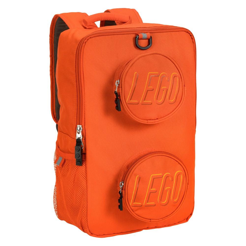 """Image of """"LEGO 16"""""""" Brick Kids' Backpack - Orange, Pumpkin"""""""