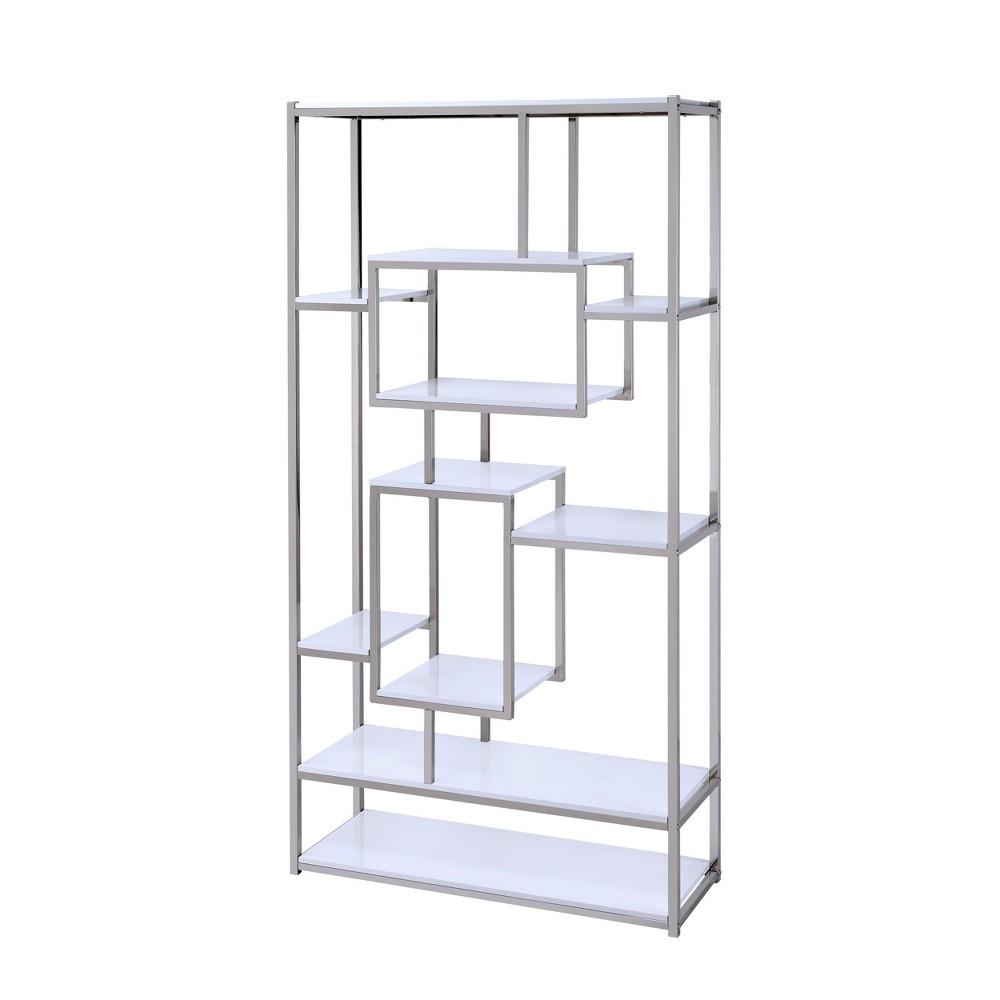 Contemporary Adina Bookcase White - Steve Silver