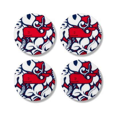 Hibiscus Whale Coasters - Set of 4 - vineyard vines® for Target