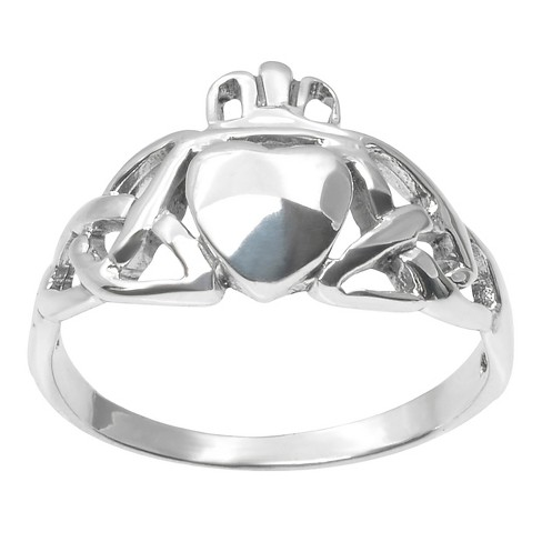 Women's Journee Collection Celtic Heart Design Ring in Sterling Silver - Silver - image 1 of 2