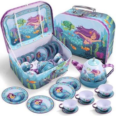 Joyin Mermaid Tin Teapot Set