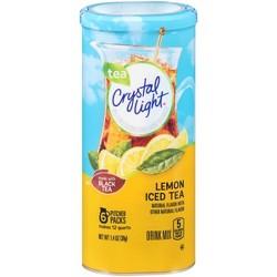 Crystal Light Natural Lemon Iced Tea Drink Mix - 6pk/0.233oz Pouches