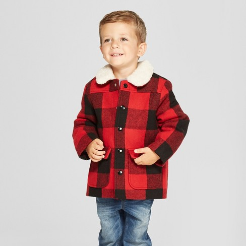 9495d268ce3f Toddler Boys  Buffalo Plaid Field Jacket - Cat   Jack™ Red   Target