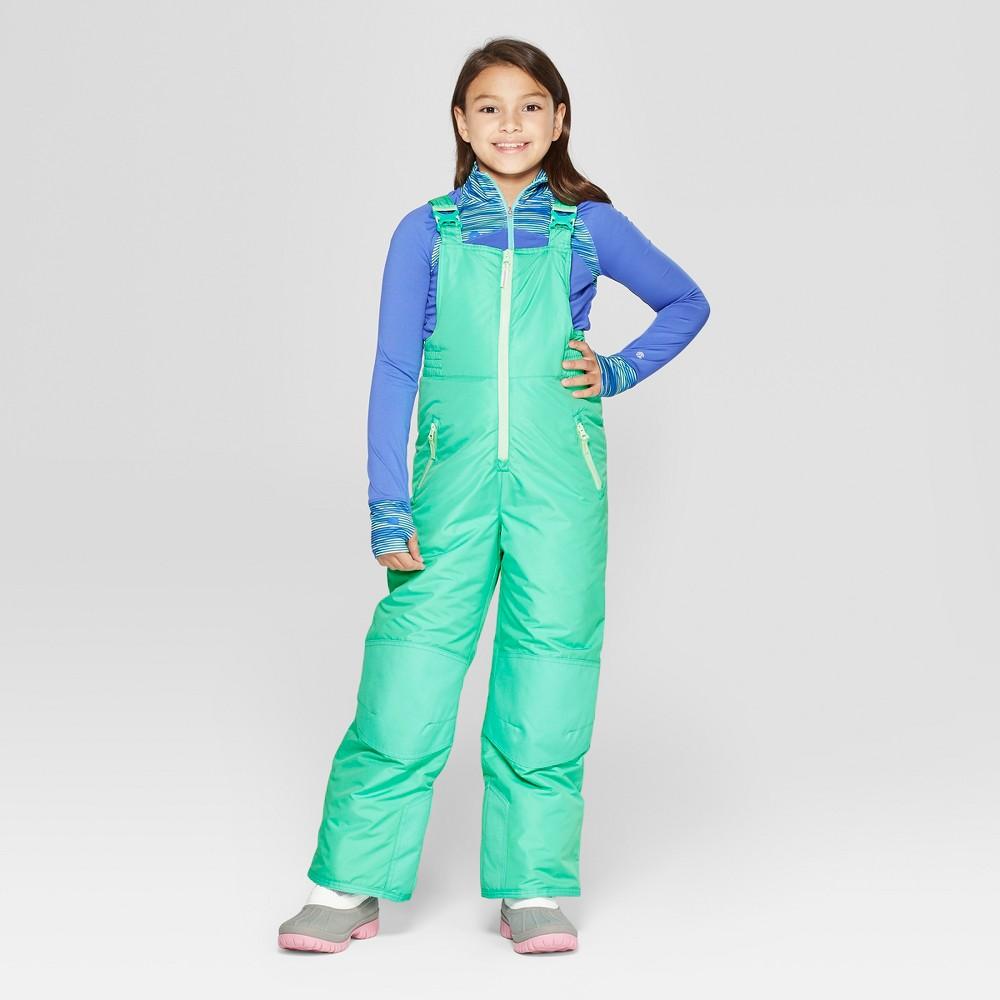 Girls' Snow Bib - C9 Champion Aqua XS, Green