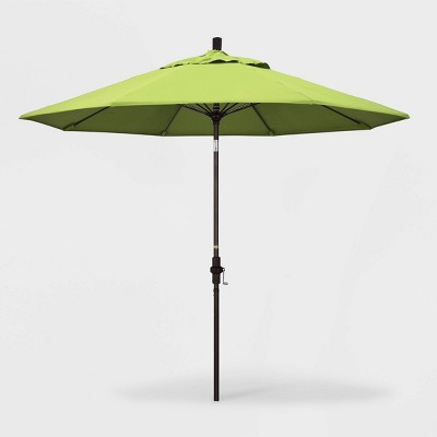 9' Aluminum Collar Tilt Crank Sunbrella Patio Umbrella - California Umbrella