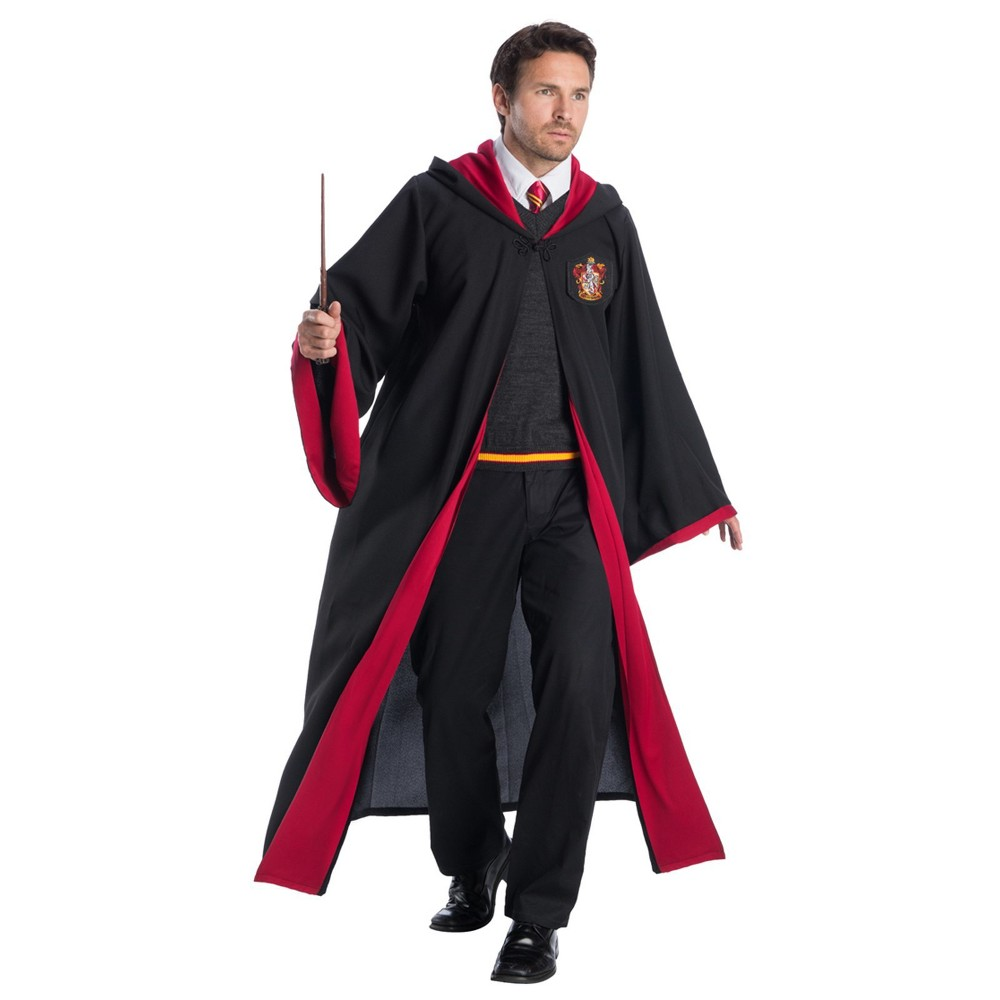 Image of Halloween Adult Harry Potter Gryffindor Student Halloween Costume S, Men's, Size: Small, MultiColored