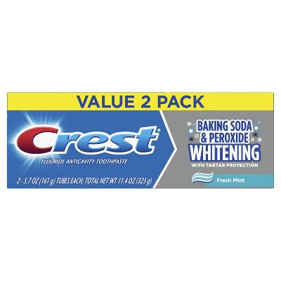 Crest Baking Soda & Peroxide Whitening with Tartar Protection Toothpaste - Fresh Mint