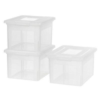 IRIS 3pk Letter and Legal File Storage Box