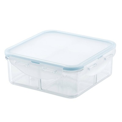 Lock and Lock Purely Better Square Food Storage Container with Dividers - 29oz