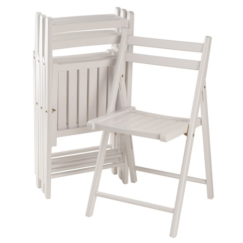 Robin 4pc Folding Chair Set White - Winsome - image 1 of 9