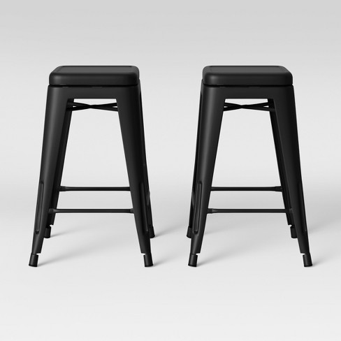 Amazing Set Of 2 Carlisle Backless Swivel Counter Stool Matte Black Threshold Ocoug Best Dining Table And Chair Ideas Images Ocougorg