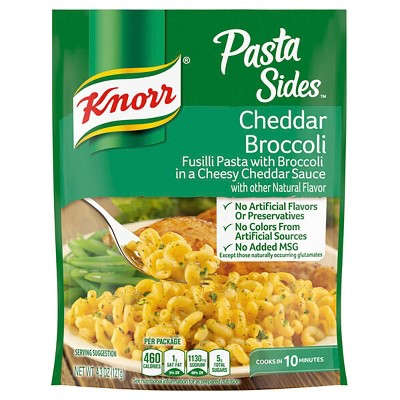 Knorr Pasta Side Dish for a warm, soothing meal Cheddar Broccoli easy preparation 4.3oz