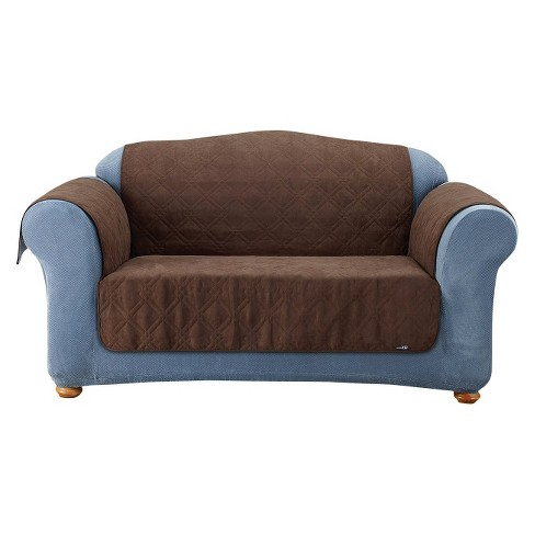 Pleasing Furniture Friends Quilted Suede Loveseat Cover Sure Fit Squirreltailoven Fun Painted Chair Ideas Images Squirreltailovenorg