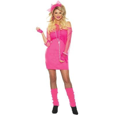 Adult Totally 80S-Neon Pink Halloween Costume