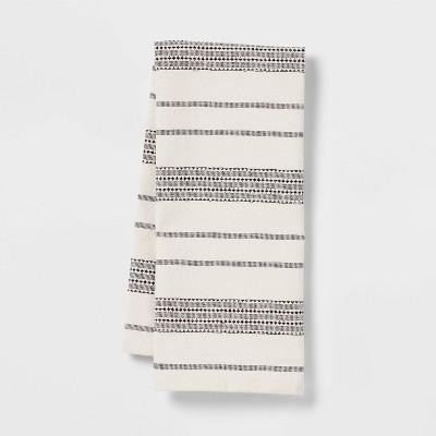 Cotton Kitchen Towel Black - Threshold™