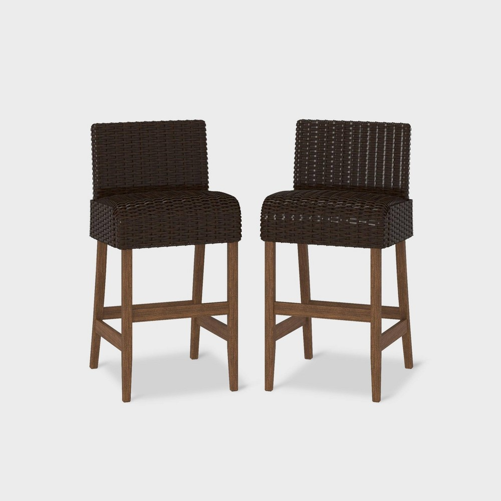 Incredible Smartdry 2Pk Patio Bar Stools Dark Brown Cosco Andrewgaddart Wooden Chair Designs For Living Room Andrewgaddartcom