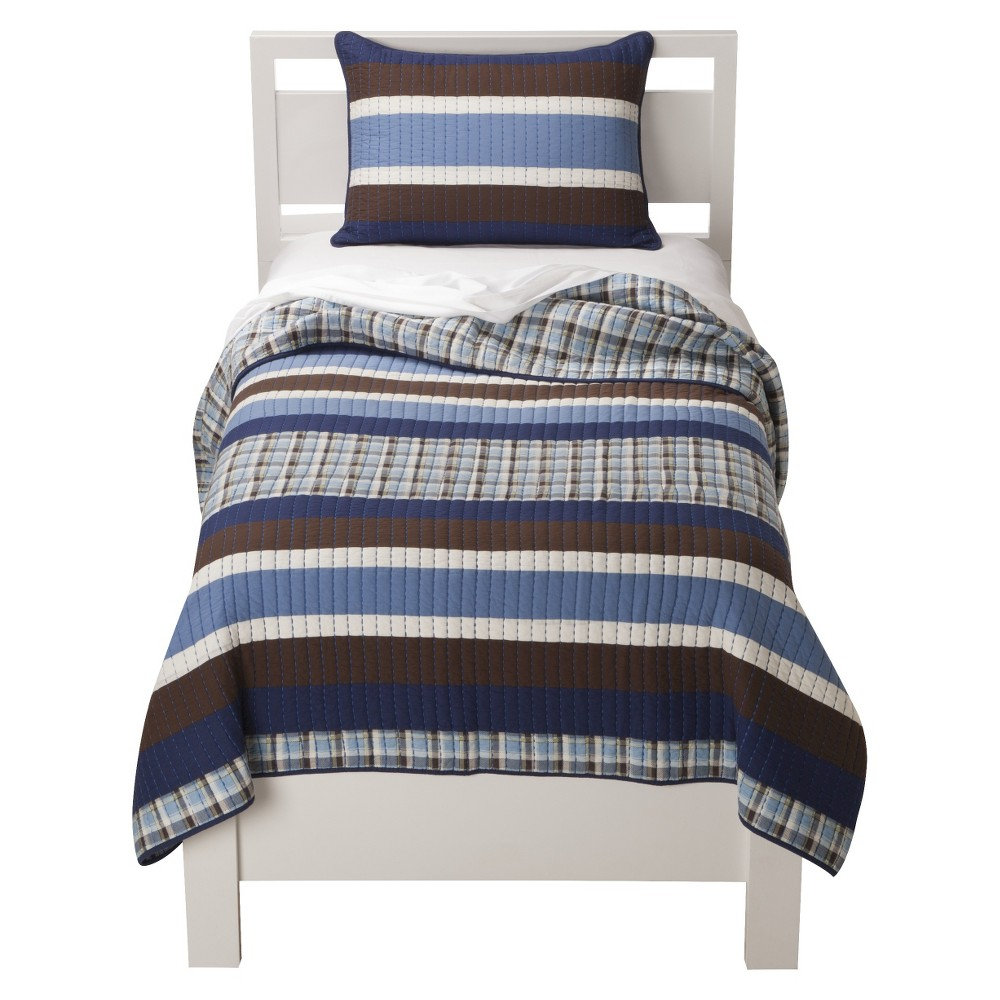 Sheringham Road Surf Stripe Quilt Set - Twin, Multicolored