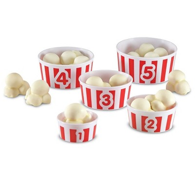 Learning Resources Smart Snacks Count 'Em Up Popcorn, 20 Piece Game, Ages 2+