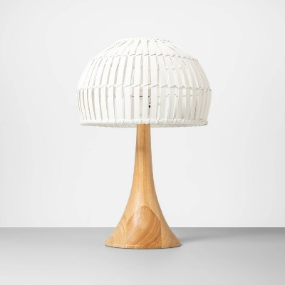18  x 12  Bamboo Table Lamp Natural/White - Opalhouse™