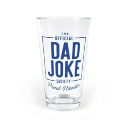 """""""Official Dad Joke Society"""" Father's Day Pint Glass - Fred & Friends"""