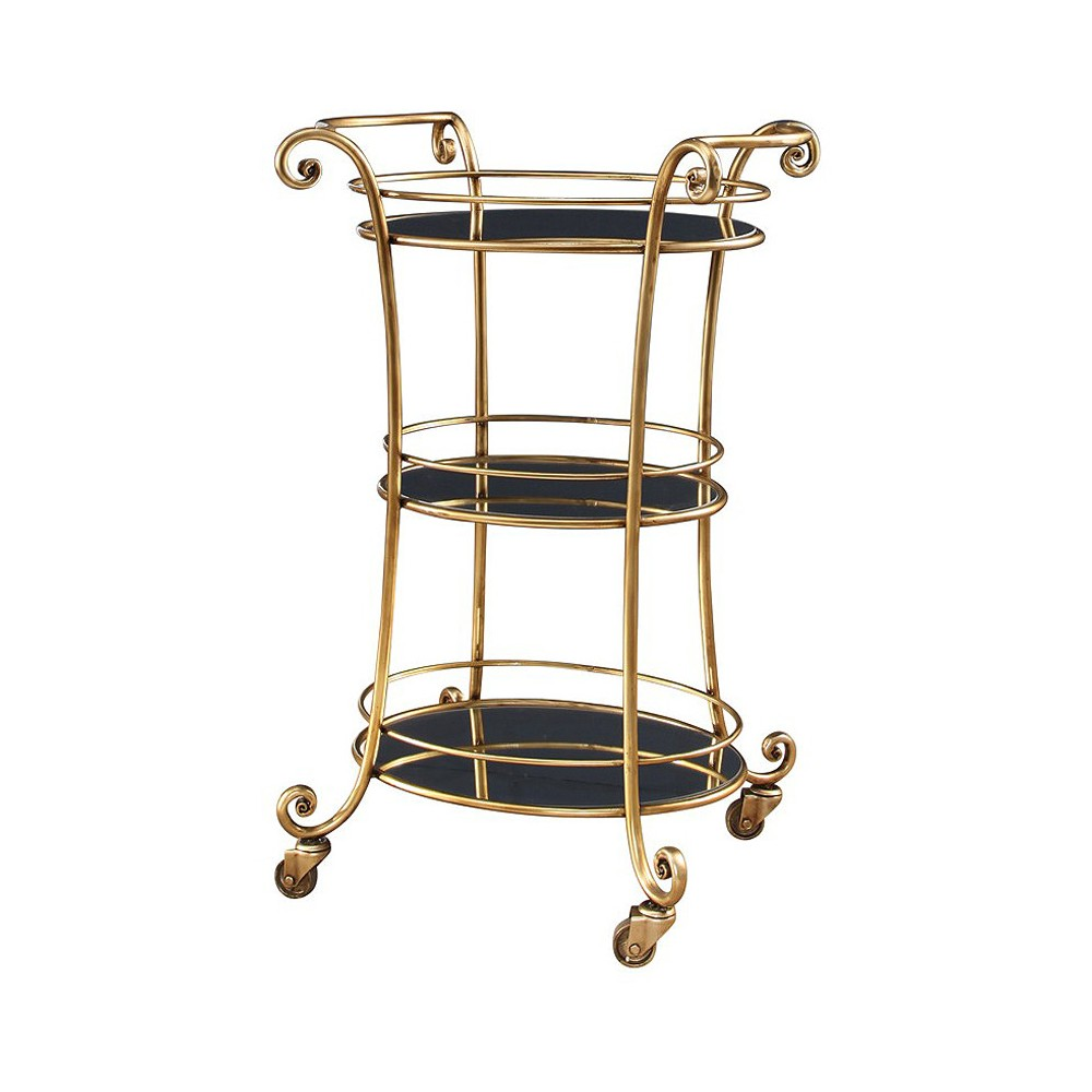 Hart 3 Tier Bar Cart - Gold - Abbyson