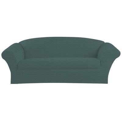 Stretch Herringbone Sofa Slipcover - Sure Fit