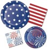 "Patriotic Patterns 7"" Dessert Plates - 8ct - image 2 of 2"