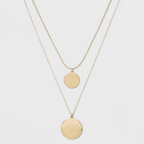 SUGARFIX by BaubleBar Polished Layered Pendant Necklace - Gold